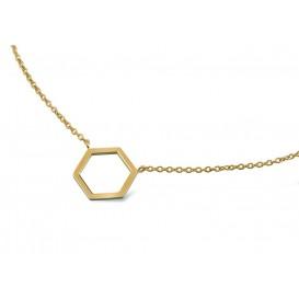 Boccia Figura Titanium ketting 45-50 cm goudkleurig 08014-02