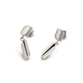 Boccia 05010-01 Oorhangers titanium zilverkleurig 5 x 22 mm