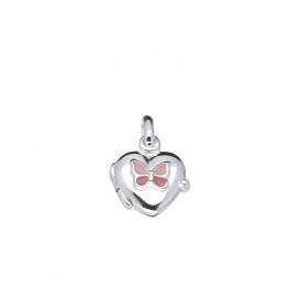 Lilly Zilveren Medaillon - 11 Mm Hart Roze Vlinder  145.0126.00