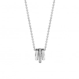 TI SENTO - Milano 3905ZI zilveren collier met hanger