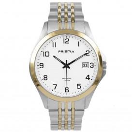 Prisma Horloge 1797 Heren Stainless Steel Saffierglas P.1797 Herenhorloge 1