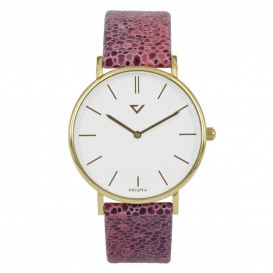 Prisma Horloge 1868 Dames Edelstaal Goud 100%NL P.1868 Dameshorloge 1