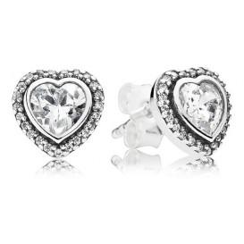 Pandora Oorknoppen zilver 'Twinkelende Hartjes' 290568CZ