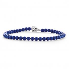 TI SENTO - Milano 2908BL Armband zilver met blauwe balletjes 19 cm
