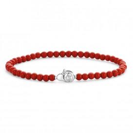 TI SENTO - Milano 2908CR Armband kralen rood 19 cm