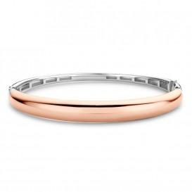 TI SENTO-Milano 2915SR Armband Bangle zilver- en rosekleurig 60 mm