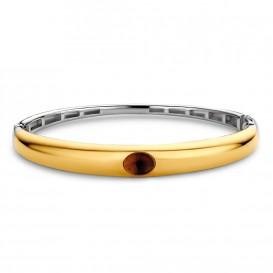 TI SENTO-Milano 2916TB Armband Bangle Gilded zilver- en goudkleurig 60 mm