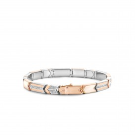 TI SENTO - Milano Armband 2943MW Zilver rose plated  18 cm