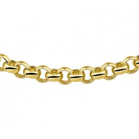 Zilgold Collier goud met zilveren kern Jasseron 8 mm 50 cm