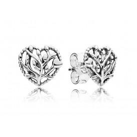 Pandora Oorbellen zilver Flourishing Hearts 297085