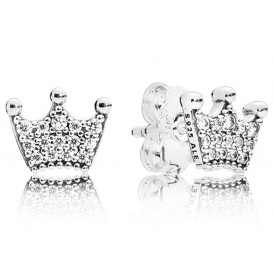 Pandora Oorbellen zilver Enchanted Crowns 297127CZ