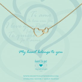 Heart to get N244ENH15G my heart belongs to you ketting verguld