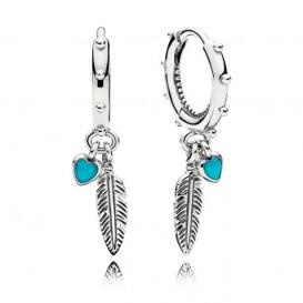 Pandora Oorbellen 297205EN168 Spiritual Feathers zilver