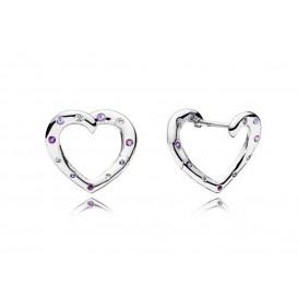 Pandora Oorbellen zilver Bright Hearts Hoops 297231NRPMX