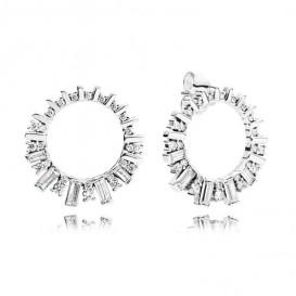 andora 297545CZ Oorbellen Glacial Beauty zilver