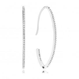 Pandora Oorbellen 297691CZ zilver Oval Sparkle