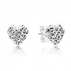 Pandora Oorbellen 297693 zilver Regal Hearts