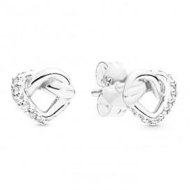 Pandora 298019CZ Oorbellen zilver Knotted Hearts