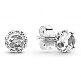 Pandora 298311CZ Oorbellen Sparkling Crown zilver