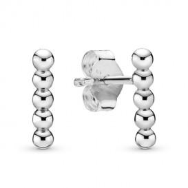 Pandora 298359 Oorbellen Row of Beads zilver