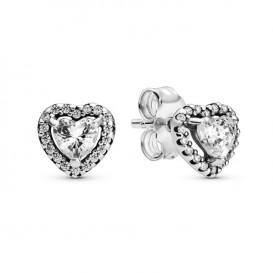 Pandora 298427C01 Oorbellen Elevated Heart zilver