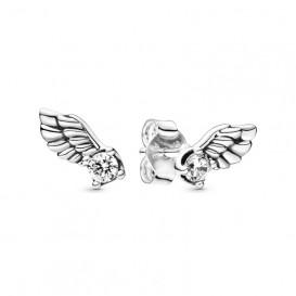 Pandora 298501C01 Oorbellen Sparkling Angel Wing zilver