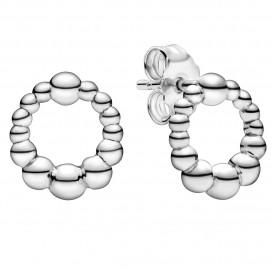 Pandora 298683C00 Oorbellen zilver Beaded Circle