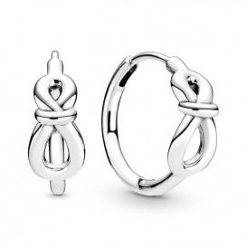 Pandora 298889C00 Oorbellen Infinity Knot zilver 20 mm