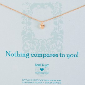 Heart to get N02SHE11R-2 Nothing compares to you ketting rose