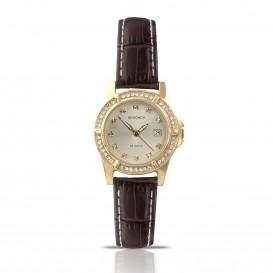 Sekonda Horloge 4586 Leer  Datum SEK.4586 Dameshorloge 1