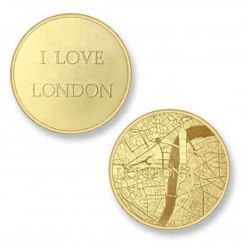 Mi Moneda LON-02 Del Mundo - London goudkleurig Large
