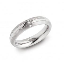 Boccia 0131-03 Titanium ring met diamant Maat 21,5