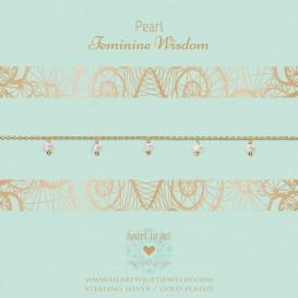Heart to get B337DGP16S bracelet dangling gemstones, Pearl feminine wisdom silver