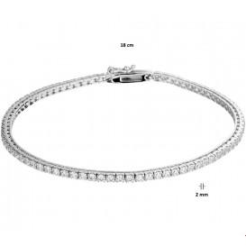 TFT Armband Witgoud Zirkonia 2 mm 18 cm