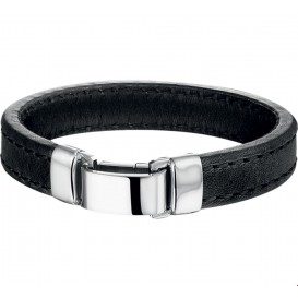 TFT Armband Staal Leer 14mm 21 cm