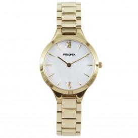 Prisma horloge 1462 dames edelstaal Parelmoer 5 ATM P.1462 Dameshorloge 1