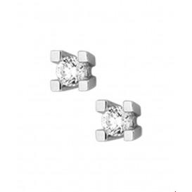 Oorknoppen Diamant 0.20 Ct. Witgoud Glanzend 4.4 mm x 4.4 mm
