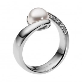 Skagen SKJ0091040 Agnethe ring met parel en zirkonia Maat 57 is 18mm