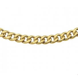 Zilgold Collier goud met zilveren kern Geslepen Gourmet 6 mm