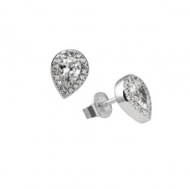 Zilveren fantasie oorknoppen diamonfire Signatures - zirkonia - druppel - entourage 806.0121.00