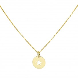 Glow Gouden Symboolcollier - 42+5 Cm Ster  202.2013.47