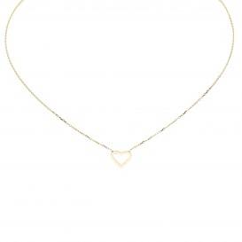 Glow Gouden Collier Met Hanger - Open Hart 42+3cm 202.2052.45