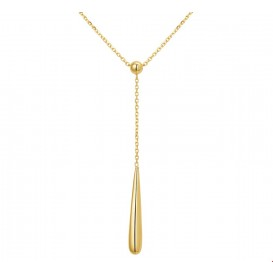 TFT Collier Geelgoud Druppel 1,1 mm 43 - 47 cm