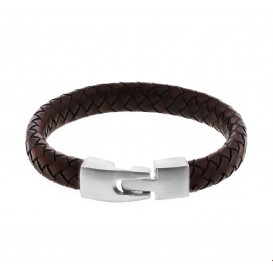 TFT Armband Staal Leer 11 mm 21,5 cm