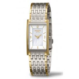 Boccia Horloge Titanium zilver- en goudkleurig 3212-09