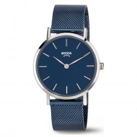 Boccia 3281-07 Horloge titanium/staal zilverkeurig-blauw 32 mm