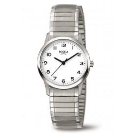 Boccia 3287-01 Horloge titanium zilverkleurig rekband 28 mm