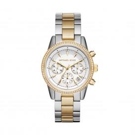 Michael Kors Horloge Ritz staal zilver- en goudkleurig MK6474