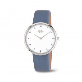 Boccia Titanium 3309.07 horloge Leer Bla Dames 1