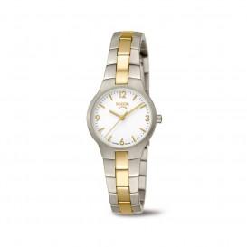 Boccia Titanium 3312.02 horloge Titanium Zilver en goudkleur Dames 1